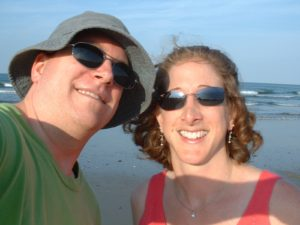 Me and Dar on beach Hull MA 02